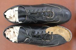 Early 1900and039s Spalding Baseball Pitcherand039s Spikes Cleats