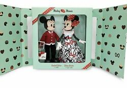 Disney Mickey And Minnie Mouse Limited Edition Valentines Day Doll Set