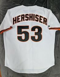 Orel Hershiser Authentic Russell Athletic San Francisco Giants Jersey 52 Dodgers