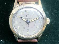 Longines Vintage Cal.10l 14k 17 Jewels Manual Winding Mens Watch Auth Works