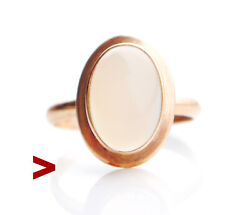 1961 European Vintage Retro Ring Chalcedony Solid 14k Gold 6us /2.7 Gr