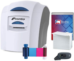 Magicard Pronto Id Card Printer Complete Supplies Package With Bodno Id Softwa