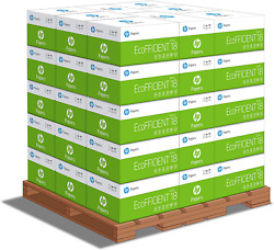 Hp Printer Paper, Ecoeficient 18lb, 8.5 X 11 Letter - 1 Pallet / 40 Cartons, Mad