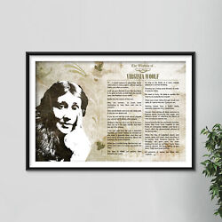 The Wisdom Of Virginia Woolf Poster - Art Print Gift Motivation Gift