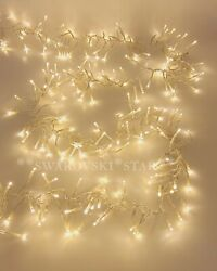Raz Imports 19.6 Led Cluster Garland Clear Wire White600 Lights Remote Christmas