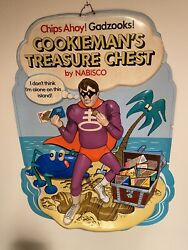 Chips Ahoy Cookieman's Treasure Chest Store Display Nabisco 1973 No Shipping