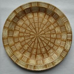 +wicker By Nikko Bread Salad Plate Stone Discontinued Dish Pattern Very Rare Vtg