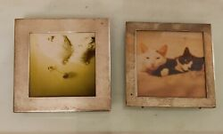 Pair Of Sterling Silver Picture Frames Marked