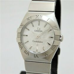 Omega Constellation Box White Shell Dial Quartz Womens Watch Authentic Working