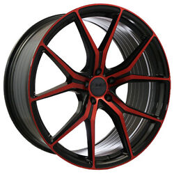 22x8.5 22x10 5-112 Str907 Staggered Magic Red Made For Audi A7