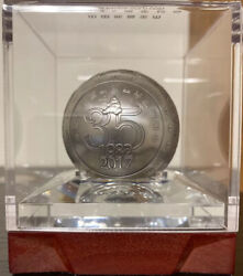 2017 Peopleand039s Republic Of China 999 Silver Limited 35th Anniversary Panda Sphere