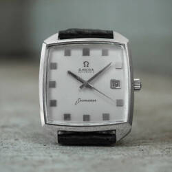 Omega Seamaster Vintage Date Compressor Square Automatic Mens Watch Auth Works