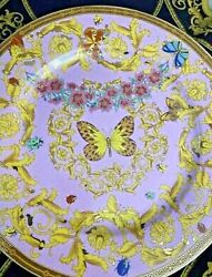 Le Jardin Butterfly Charger Plate Rosenthal New Discontinued Estate