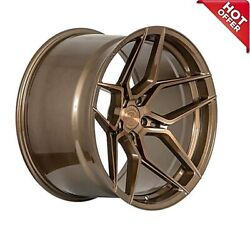 Front 20x10 Rear 20x11 Staggered Rohana Wheels Rfx11 Brushed Bronze Rims 5x115