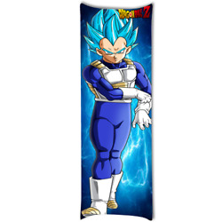 Vegeta Super Saiyan Body Pillow Case Dakimakura Zippered 21and039and039x 60and039and039twin Sides