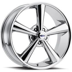 20x8.5 Cragar 614c S/s Modern Muscle Chrome Wheels Rims +28 5x120 Qty 4