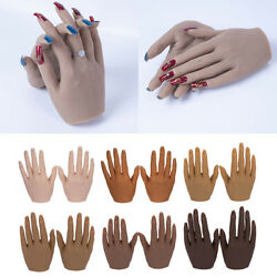Silicone Nail Practice Hands 11 Mannequin Female Model Display