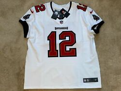Tom Brady Tampa Bay Buccaneers Elite Authentic White Jersey Super Bowl Size 48