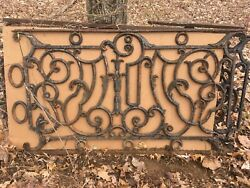 Antique Cast Iron Balcony Railing 29 Ln Feet Black 4-pc 5and0394 1-pc 7and0394 1-pc 2