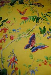 Cyrus Clark Cortile Yellow Butterfly Home Decor Fabric Palampore Floral 10 Yards