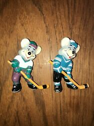 Chuck E Cheese Pvc Hockey Figures 1986 Vintage Advertising Showtime Pizza Place