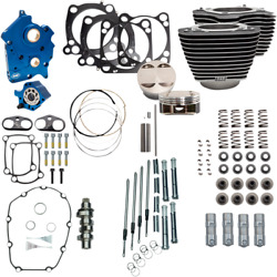 S And S Cycle Chrome Water Cooled 124 Power Packages For M-eight 310-1050a