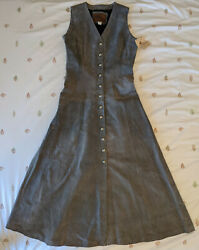 New Vintage Echo Mountain By Arturo Pitic Leather Vest Dress Size 10 Mexico Rare