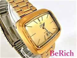 Omega Cal684 De Ville Antique Automatic Gold Dial Stainless Menand039s Watch [b0305]