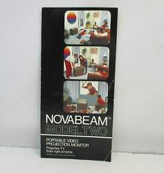 Kloss NovaBeam Model Two Portable Video Projection Monitor Flyer Advertisement