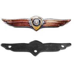 Rear Deck Emblem And Mounting Pad For 1936-1937 Dodge Passenger Cars