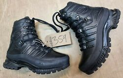 Meindl German Army Sf Issue Black Leather Goretex Combat Boots Size 6 Uk 359