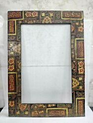 Old Vintage Rare Wooden Hand-painted Big Photo Frame Multipurpose Collectible