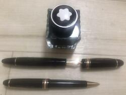 Mont Blanc-fountain-pens And Ballpoint Pen Meisterstck Ink Set Black Gold F/s
