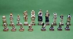Russian Porcelain Chess Pieces. Mohammedan India Classic. Kislovodsk