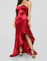 Ladies Red Evening Prom Gown $50.00