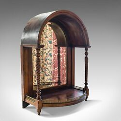 Antique Butler's Mirror, English, Rosewood, Dome Top, Wall, Victorian, C.1880