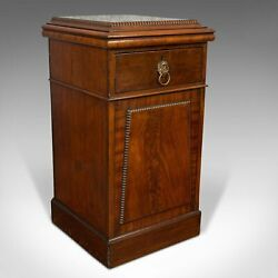 Tall Antique Side Cabinet English Mahogany Bedside Nightstand Regency 1820