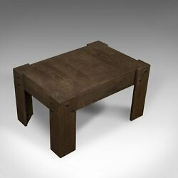 Vintage Coffee Table, Rustic, English, Oak, Occasional, Side, Industrial, C20th