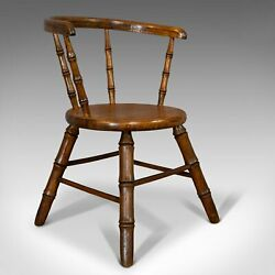 Small Antique Windsor Chair English Oak Apprentice High Wycombe Victorian