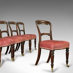 Antique Dining Chair Suite, English, Walnut, Set Of, 5 Chairs, Gillow, Victorian