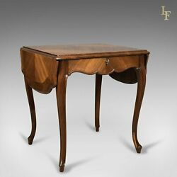 19th Century French Antique Sofa Table Kingwood Drop Flap Occasional C.1880
