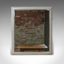 Large Antique Wall Mirror English Victorian Painted Pitch Pine Circa 1900