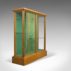 Antique Shop Display Cabinet English Victorian Fitting Ash Fitting C.1900