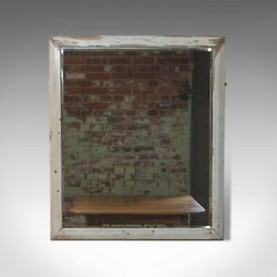 Large Antique Wall Mirror English Victorian Painted Pine Circa 1900