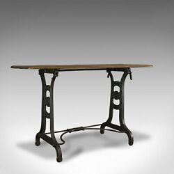Antique Orangery Table English Industrial Machinist Victorian Side C.1900