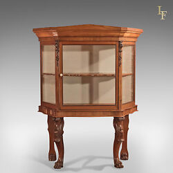 Antique Display Cabinet Regency Glazed Mahogany Cupboard On Stand English C1820