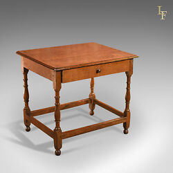 Antique Occasional Table Victorian Oak English Country Hall Side C.1850