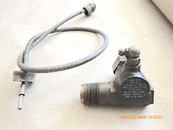 Vintage Aircraft Tachometer Drive And Cable Type A-5 Us Army Ac