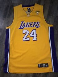 Vintage Kobe Bryant Los Angeles Lakers Finals Adidas Authentic 52 Xxl Jersey