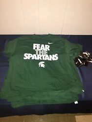 30 Nike Michigan State Fear The Spartans Child T-shirt - 10 Of Sizes M L Xl